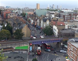Photo:Hackney Central from St Augustine's Tower
