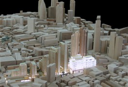 Photo:1:1000 Masterplan model of the Goodsyard proposal